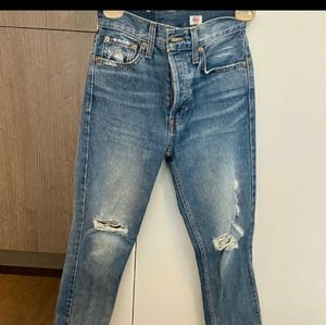 Re/Done Blue High Rise Jeans